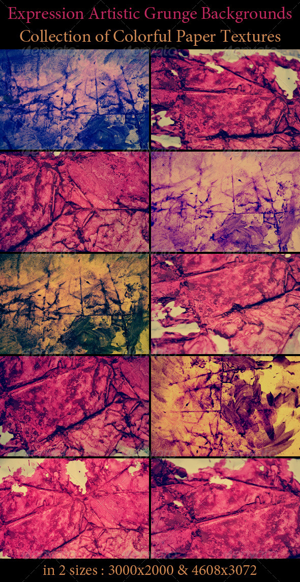 Expression Artistic Grunge Backgrounds - Art Textures