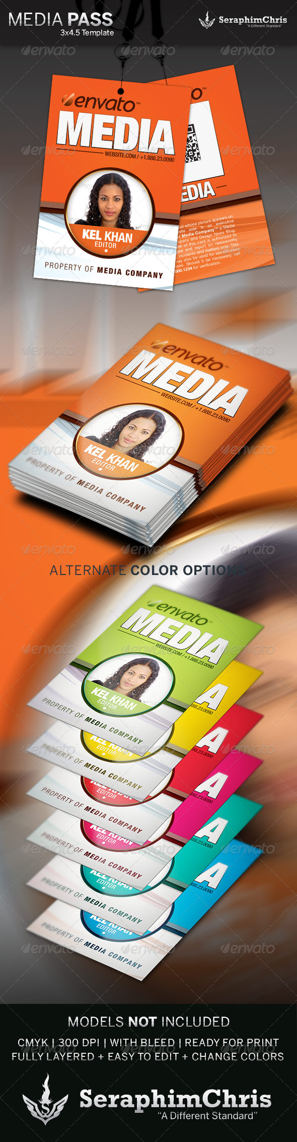 GraphicRiver Media Pass Template 4266678