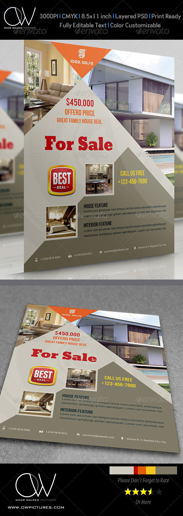 Real Estate Flyer Vol.4 - Flyers Print Templates