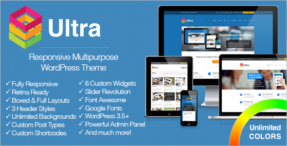 Ultra Responsive Multipurpose WordPress Theme