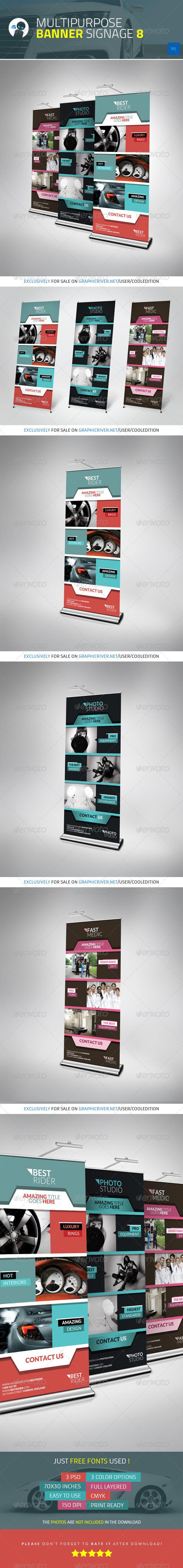 GraphicRiver Multipurpose Banner Signage 8 4371508