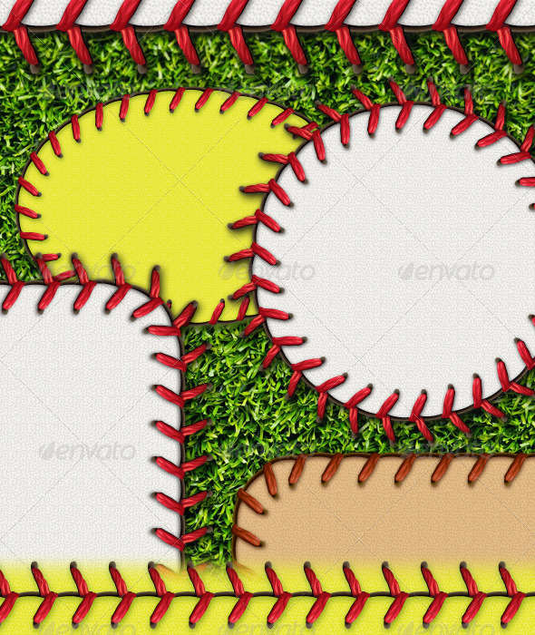 GraphicRiver Baseball Stitches Brush & Styles Pack 4371621