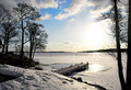 jetty in lake in early spring - PhotoDune Item for Sale