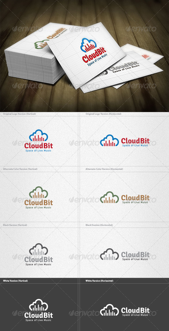 GraphicRiver Cloud Bit Logo 4372131