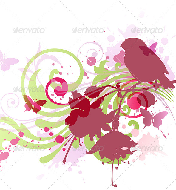 GraphicRiver Abstract Background with Bird 4372706
