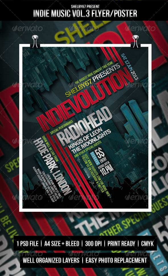 GraphicRiver Indie Music Flyer Poster Vol.3 4372973