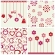 Flowers and Heart Set - GraphicRiver Item for Sale