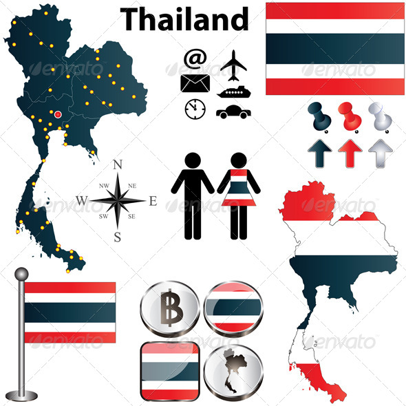 GraphicRiver Map of Thailand 4373023