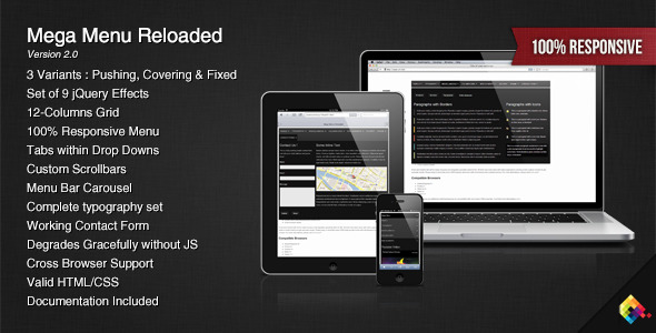 Mega Menu Reloaded - CodeCanyon Item for Sale