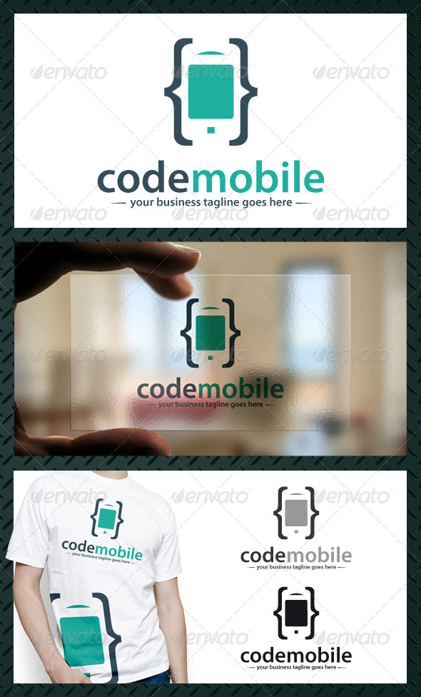 GraphicRiver Phone Code Logo Template 4373898