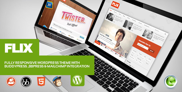 ThemeForest Flix BuddyPress Ready Team Blogging 3653946