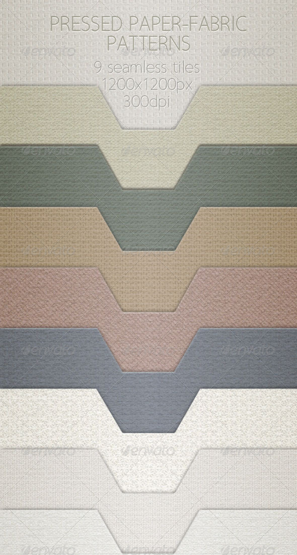GraphicRiver Pressed Paper-Fabric Pattern Tiles 4374091