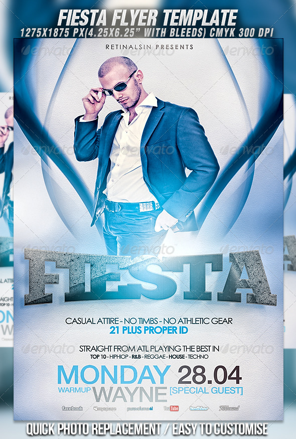 Fiesta Flyer Template - Clubs & Parties Events