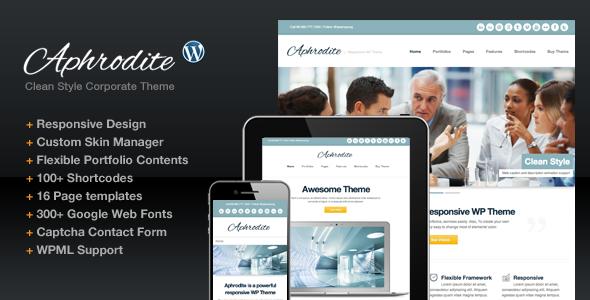 Aphrodite Responsive Corporate Business Portfolio - Business Corporate