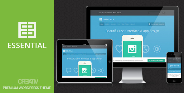 Business Essentials Premium Wordpress Theme - Business Corporate