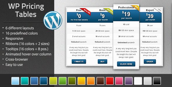 CodeCanyon WordPress Pricing Tables plugin 4376845