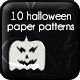 10 Bats &amp;amp; Pumpkins Paper Patterns - GraphicRiver Item for Sale