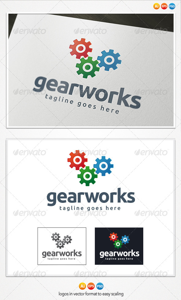Gear Works Logo - Objects Logo Templates