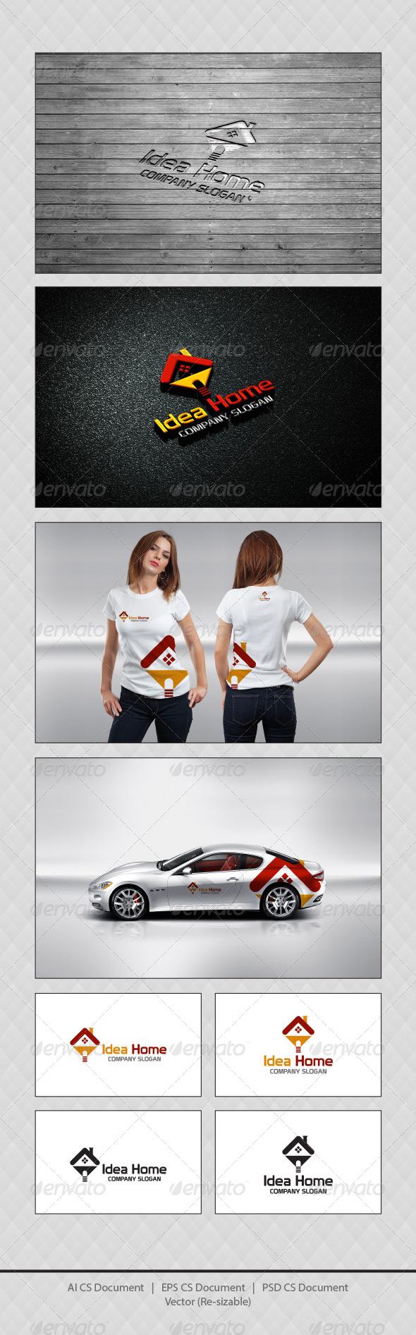 GraphicRiver Idea Home Logo Templates 4377631