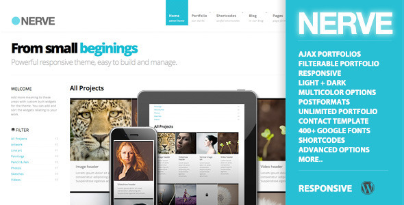 ThemeForest Nerve Responsive Portfolio for WordPress 4377933