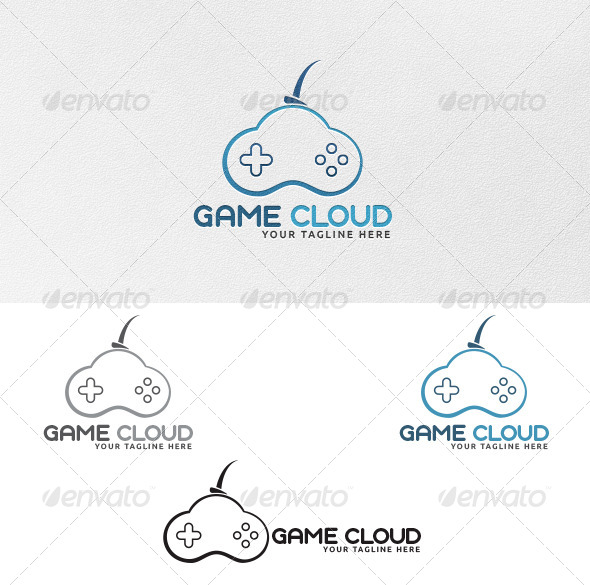 GraphicRiver Game Cloud Logo Template 4303174