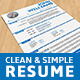 Clean &amp;amp; Simple Resume - GraphicRiver Item for Sale