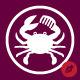 Barber Crab Logo Template - GraphicRiver Item for Sale