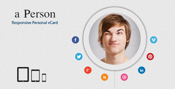ThemeForest a-person Responsive Personal vCard 4357042