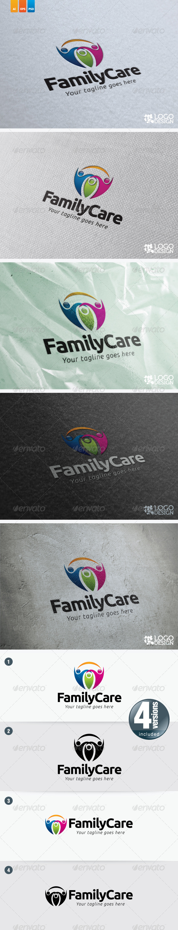 Family Care - Humans Logo Templates