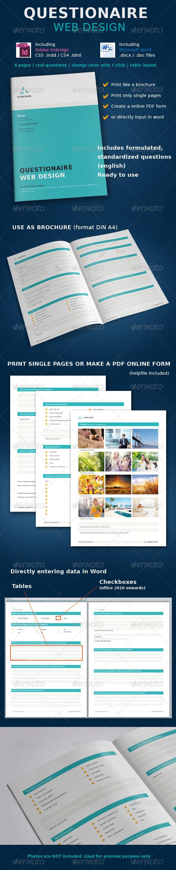 GraphicRiver Questionaire Web Design 4381444