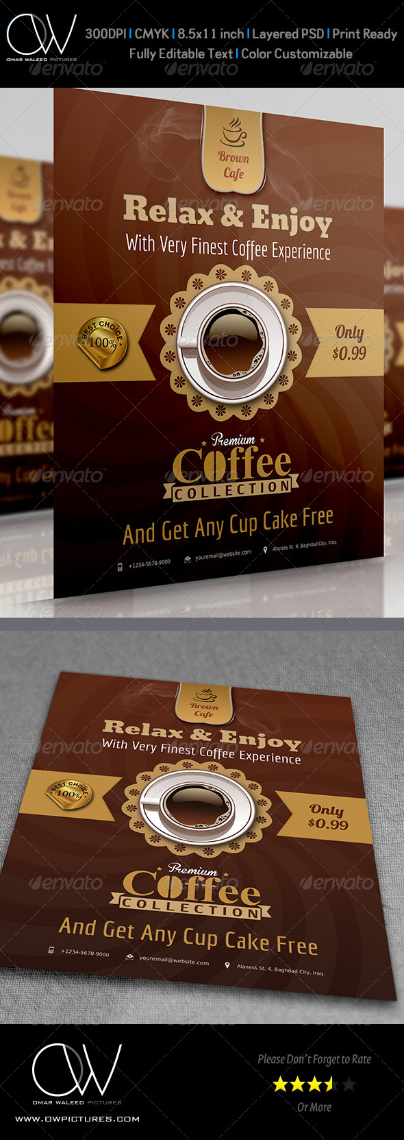 GraphicRiver Cafe Flyer 3951943