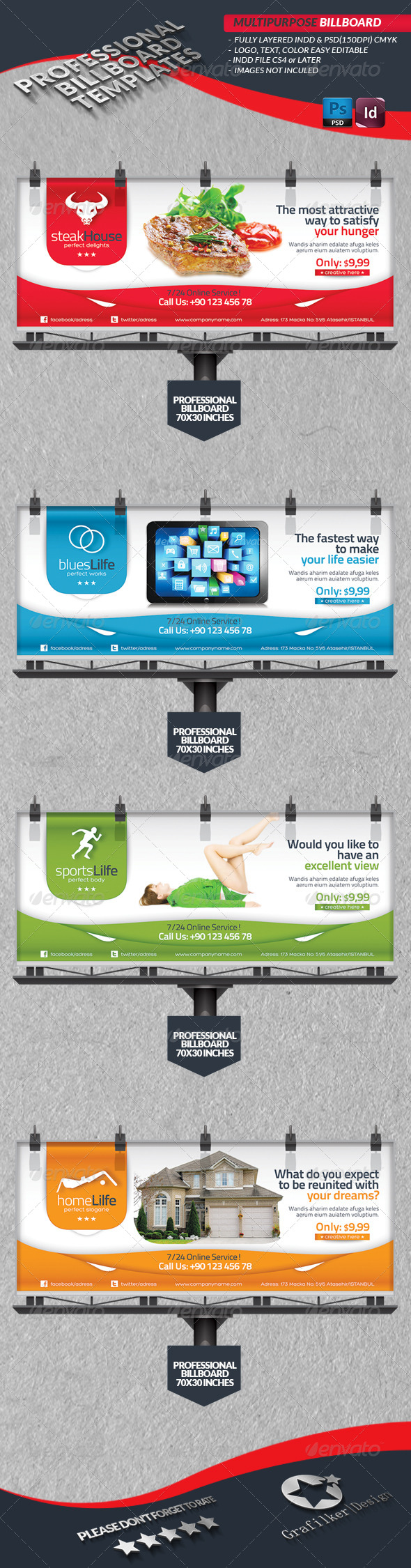 GraphicRiver Multipurpose Billbord Template 4276820
