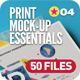 Print | Branding Mock-Up Essentials Bundle - GraphicRiver Item for Sale