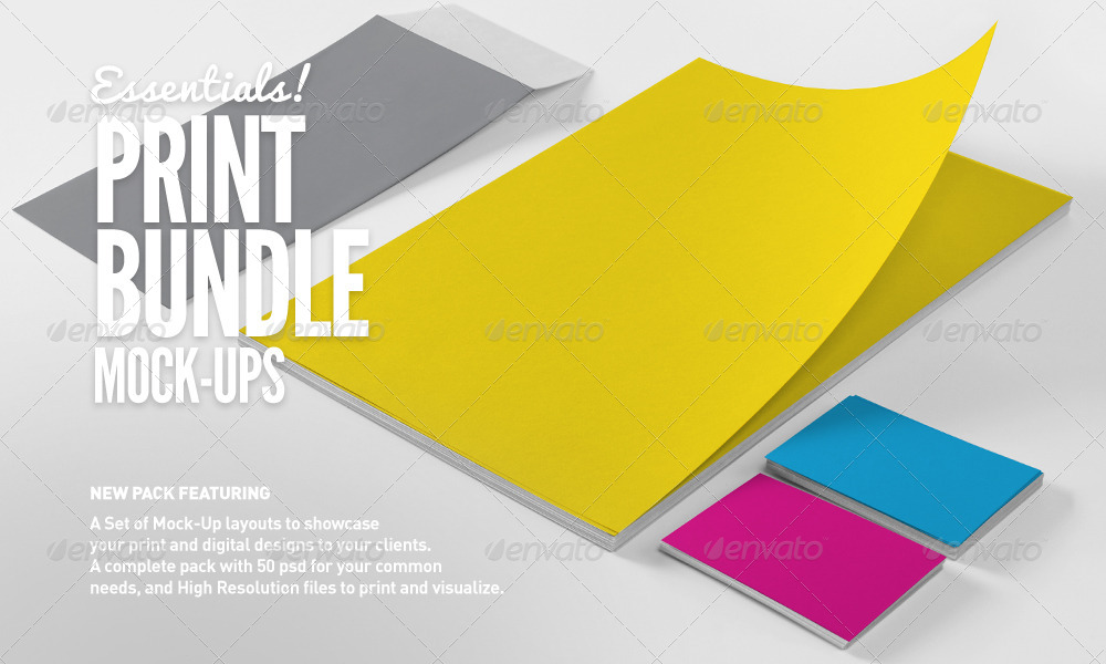 Print | Branding Mock-Up Essentials Bundle