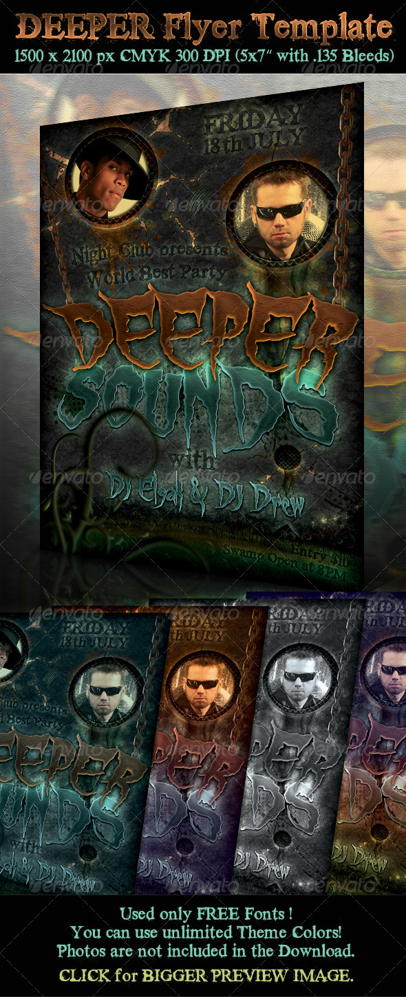 Deeper Flyer Template - Clubs & Parties Events