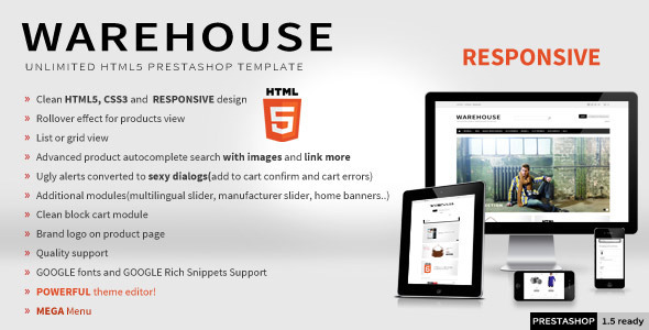 Warehouse - Responsive HTML5 Prestashop Theme - Shopping PrestaShop