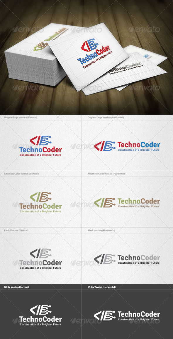 GraphicRiver Techno Coder Logo 4384511