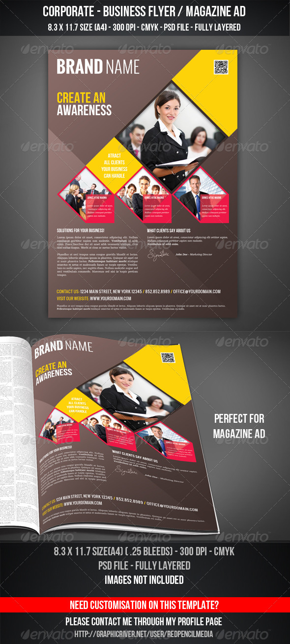 GraphicRiver Corporate Business Flyer Magazine AD 4384743