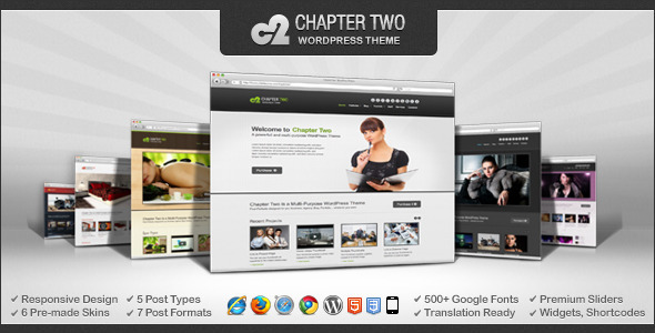 ThemeForest Chapter Two WordPress Theme 4134172