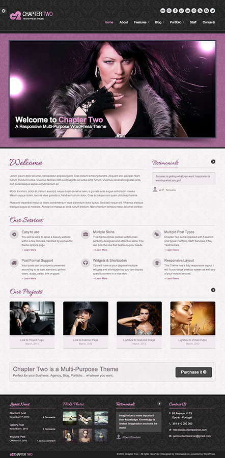 Chapter Two - WordPress Theme - Glamour Skin Preview