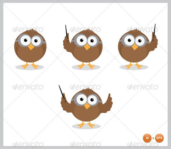 GraphicRiver Owl Mascot 4384805