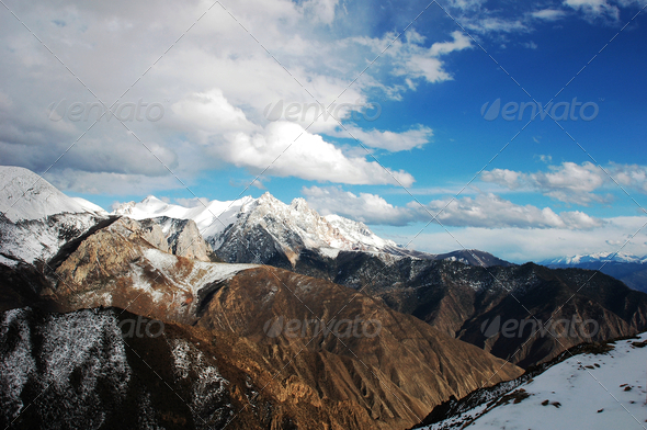 Landscape in winter - Stock Photo - Images