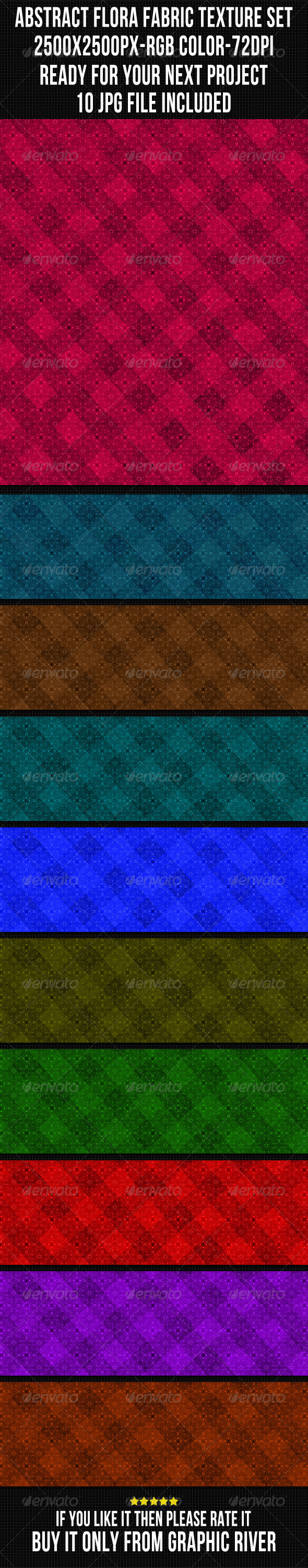 Abstract Fabric Background Set 11 - Patterns Backgrounds