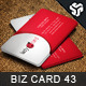 Business Card Design 43 - GraphicRiver Item for Sale