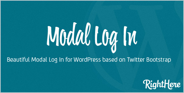 Modal Log In for WordPress - CodeCanyon Item for Sale