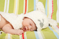 Sleeping little baby with bunny cap - PhotoDune Item for Sale