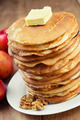 Pile of pancakes in the white plate - PhotoDune Item for Sale