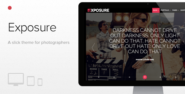 ThemeForest Exposure Fullscreen Responsive Photography theme 4380990