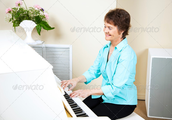 Happy Pianist - Stock Photo - Images