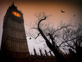 Spooky Big Ben with bats - PhotoDune Item for Sale